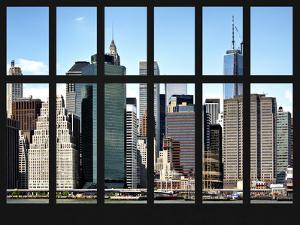 Window View - Financial District in the borough of Manhattan in New York - One World Trade Center by Philippe Hugonnard