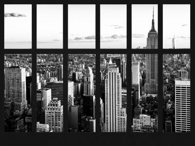Window View - Landscape with the Empire State Building and the 1 WTC - Manhattan - NYC by Philippe Hugonnard