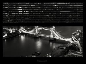 Window View of City of London with the Tower Bridge at Night - River Thames - London - England by Philippe Hugonnard