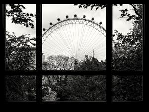 Window View of the Millennium Wheel - UK Landscape - London - UK - England - United Kingdom by Philippe Hugonnard