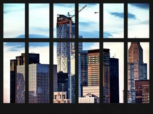 Window View - Skyscrapers of Manhattan - New York City by Philippe Hugonnard
