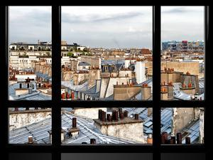 Window View, Special Series, Black and White Photography, Rooftops View, Pompidou Center, Paris by Philippe Hugonnard
