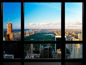 Window View, Special Series, Central Park, Sunset, Manhattan, New York, United States by Philippe Hugonnard