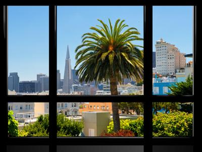 Window View, Special Series, Downtown, Transamerica Pyramid, San Francisco, California, US