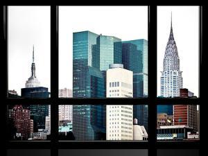 Window View, Special Series, Empire State Building and Chrysler Building Tops, Manhattan, New York by Philippe Hugonnard