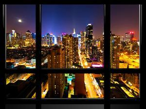 Window View, Special Series, Landscape, Manhattan by Night, Times Square, New York City, US by Philippe Hugonnard