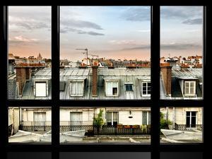 Window View, Special Series, Rooftops, Sacre-Cœur Basilica, Paris, France by Philippe Hugonnard