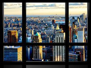 Window View, Special Series, Skyscrapers View at Sunset, Midtown Manhattan, NYC by Philippe Hugonnard