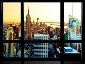 Window View, Special Series, Sunset, Empire State Building, Manhattan, New York, United States by Philippe Hugonnard