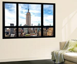 Window View, Special Series, Urban Skyline, Empire State Building, Midtown Manhattan, NYC by Philippe Hugonnard
