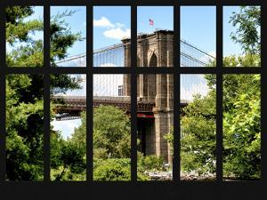 Window View - the Brooklyn Bridge - Manhattan - New York City - USA by Philippe Hugonnard