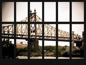 Window View - The Ed Koch Queensboro Bridge and East River - Manhattan - New York City by Philippe Hugonnard