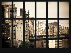 Window View - The Ed Koch Queensboro Bridge - Manhattan - New York City by Philippe Hugonnard