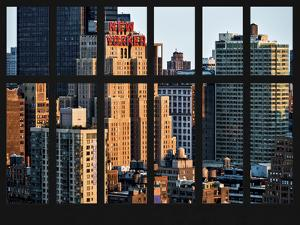 Window View - The New Yorker Hotel at Manhattan - New York City by Philippe Hugonnard