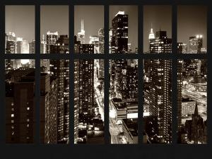 Window View - Times Square and 42nd Street - the Empire State Building - Manhattan - New York City by Philippe Hugonnard