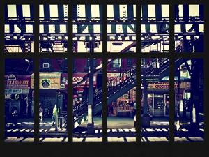 Window View - Urban Street Scene - Marcy Avenue Subway Station - Williamsburg - Brooklyn - NYC by Philippe Hugonnard