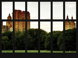 Window View - View Buildings Central Park - Manhattan - New York City by Philippe Hugonnard