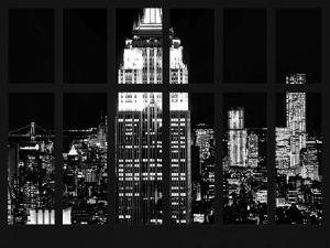 Window View - View of the Empire State Building and 1 WTC by Night - Manhattan - NYC by Philippe Hugonnard