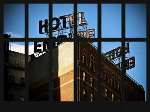 Window View - View of the Hotel Empire at Manhattan - New York City by Philippe Hugonnard