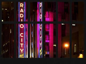 Window View - View of the Radio City Music Hall by Night - Manhattan - New York City by Philippe Hugonnard