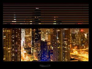 Window View with Venetian Blinds: 42nd Street with New Yorker Hotel and Empire State Building by Philippe Hugonnard