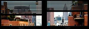 Window View with Venetian Blinds: Buildings Cityscape of Chelsea with Empire State Building View by Philippe Hugonnard