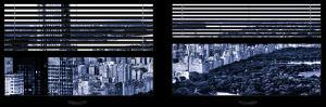 Window View with Venetian Blinds: Central Park and upper West Side Buildings by Philippe Hugonnard