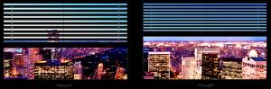 Window View with Venetian Blinds: Central Park by Night - Manhattan by Philippe Hugonnard