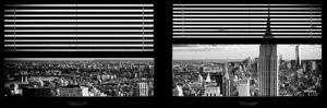 Window View with Venetian Blinds: Cityscape of Manhattan by Philippe Hugonnard
