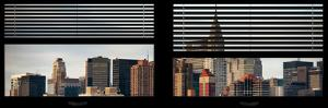 Window View with Venetian Blinds: Cityscape with the Chrysler Building of Manhattan by Philippe Hugonnard