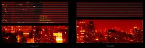 Window View with Venetian Blinds: Cityscape with the New Yorker Hotel by Red Night by Philippe Hugonnard