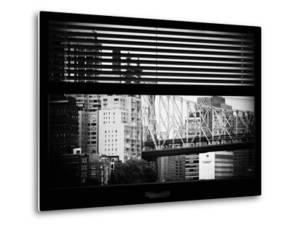 Window View with Venetian Blinds: Ed Koch Queensboro Bridge View - Architecture and Buildings by Philippe Hugonnard