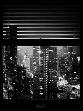 Window View with Venetian Blinds: Landscape by Misty Night - the New Yorker Hotel by Philippe Hugonnard
