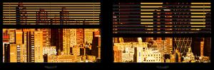 Window View with Venetian Blinds: Landscape View of Hell's Kitchen Buildings by Philippe Hugonnard