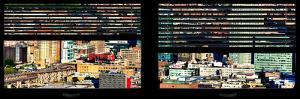 Window View with Venetian Blinds: Landscape View of Long Island City by Philippe Hugonnard