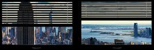 Window View with Venetian Blinds: Manhattan with Empire State Building by Philippe Hugonnard