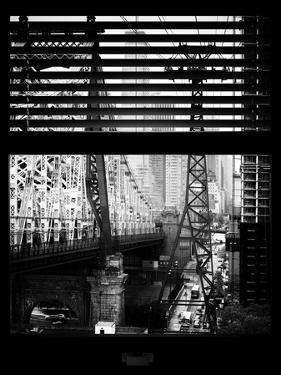 Window View with Venetian Blinds: Roosevelt Island Tram and Ed Koch Queensboro Bridge by Philippe Hugonnard