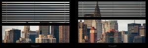 Window View with Venetian Blinds: Skyscrapers and Buildings with the Chrysler Building at Manhattan by Philippe Hugonnard