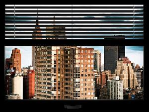 Window View with Venetian Blinds: the Empire State Building and Hotel New Yorker Views by Philippe Hugonnard