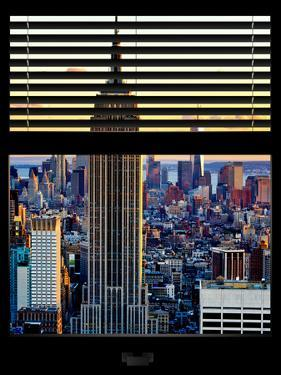Window View with Venetian Blinds: the Empire State Building and One World Trade Center Views by Philippe Hugonnard