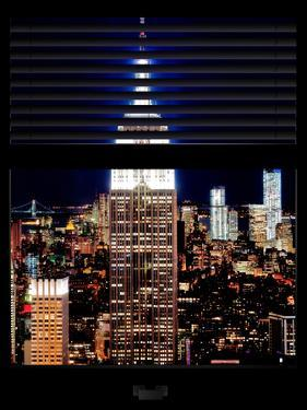 Window View with Venetian Blinds: the Empire State Building and One World Trade Center by Philippe Hugonnard