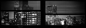Window View with Venetian Blinds: the Empire State Building and Sign Hotel New Yorker by Philippe Hugonnard