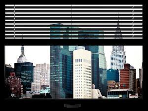 Window View with Venetian Blinds: the Empire State Building and the Chrysler Building by Philippe Hugonnard