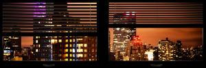 Window View with Venetian Blinds: the Empire State Building lit up by Philippe Hugonnard