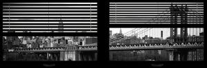 Window View with Venetian Blinds: the Manhattan Bridge with Downtown Manhattan View by Philippe Hugonnard