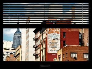 Window View with Venetian Blinds: Top of Empire State Building by Philippe Hugonnard
