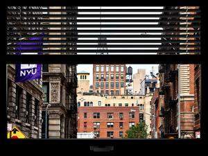 Window View with Venetian Blinds: View NYU Flag by Philippe Hugonnard