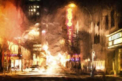 Winter night in New York by Philippe Hugonnard