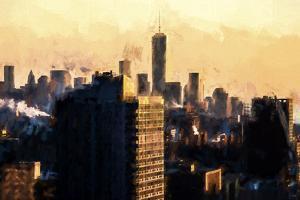World Trade Sunset by Philippe Hugonnard