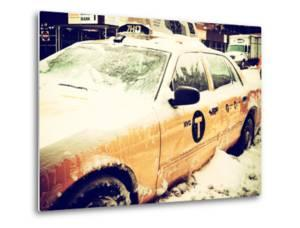 Yellow Cab in the Snow by Philippe Hugonnard